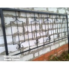 Оградка на кладбище высота 1 метр.