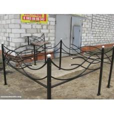 """Ритуальная ограда 70см. """"Волна"""""""