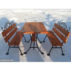 Комплект садовой мебели (2 скамейки и столик)